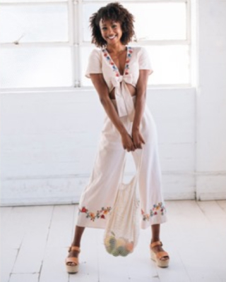 Model wearing Tobi clothing