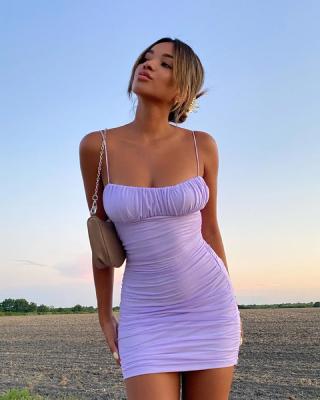 Model wearing Nasty Gal clothing