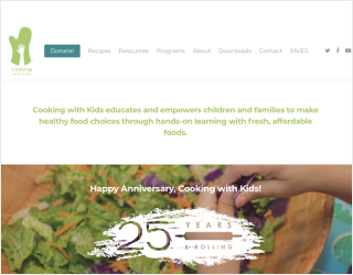 Cooking with Kids educational platform