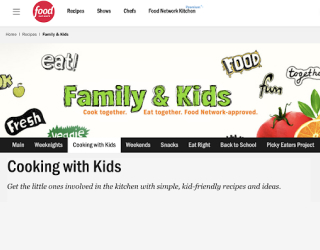 Food Network — Cooking With Kids educational platform