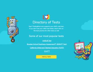 Testing Mom educational platform