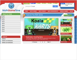 Math Game Time educational platform