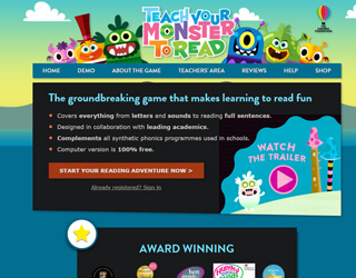 Teach Your Monster To Read educational platform