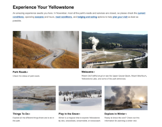 Yellowstone National Park educational platform