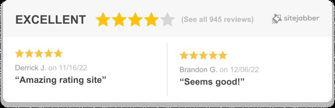 Sitejabber Review Showcase Horizontal Widget
