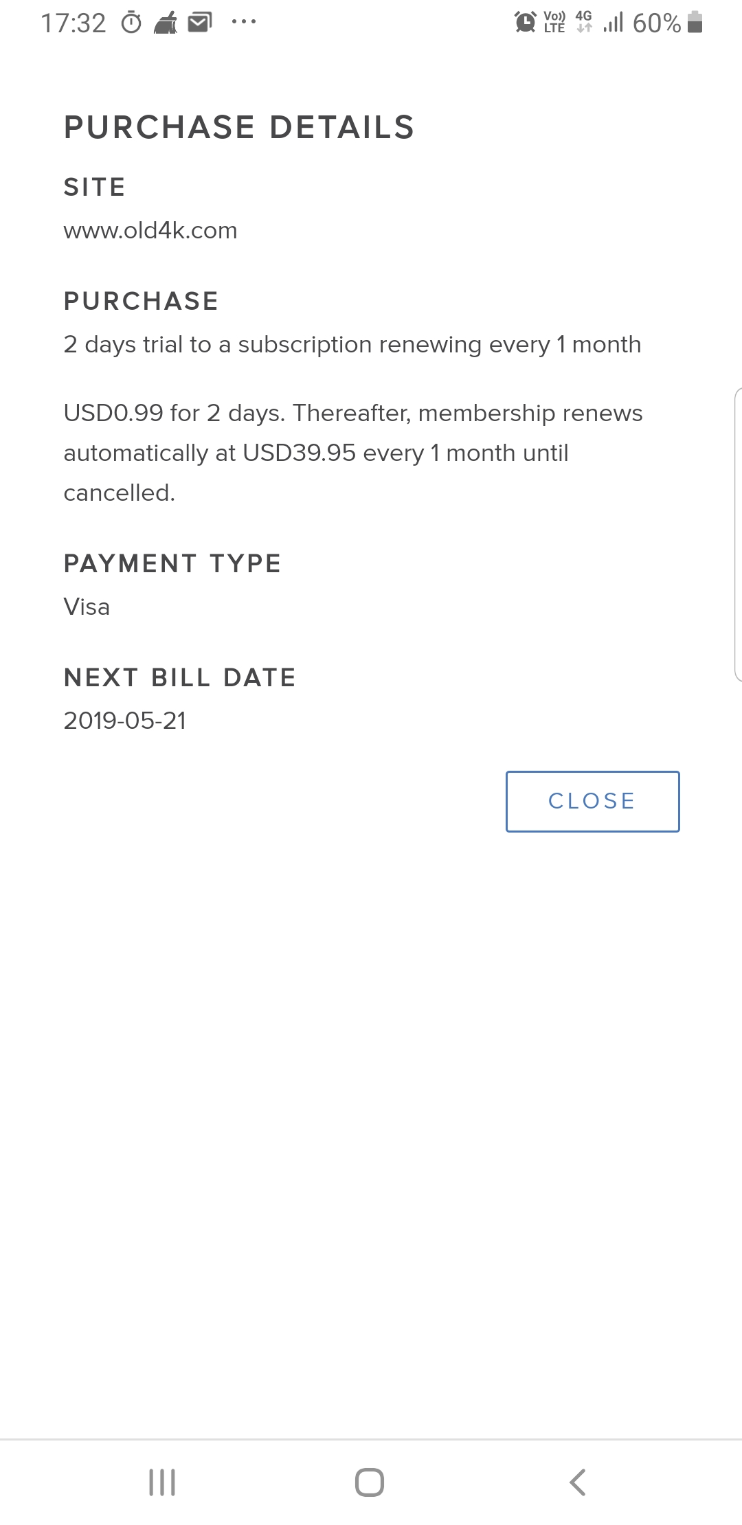 Epoch.com charges