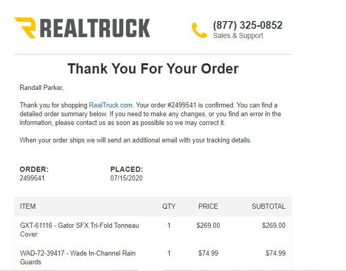 Realtruck Reviews 158 Reviews Of Realtruck Com Sitejabber