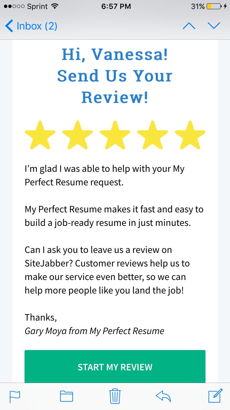 Myperfectresume Reviews 13 113 Reviews Of Myperfectresume Com