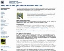 Herp and Green Iguana Information Collection