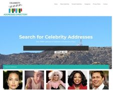 Celebrity Addresses Directory