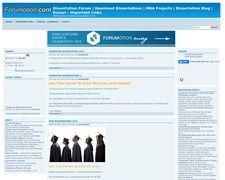 Dissertation Forum