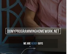 Domyprogramminghomework.net