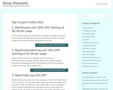 Essay Discounts