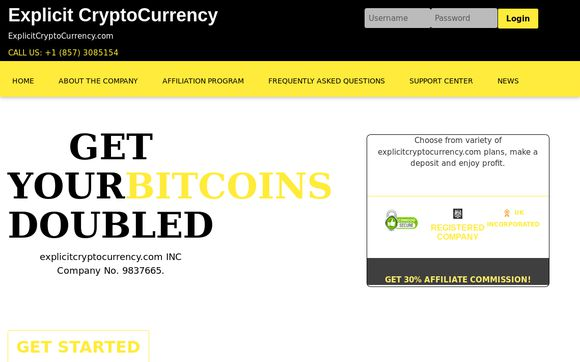 Explicit Cryptocurrency