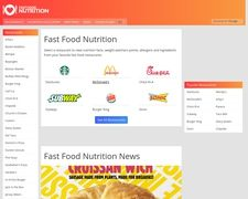 Fast Food Nutrition Facts
