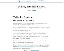 Subway Gift Card Balance