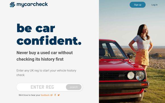 Vehicle Check - Search Any UK Reg Car History - My Car Check