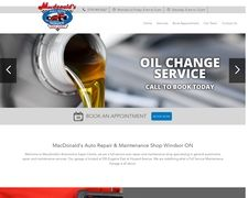 MacDonald's Auto Repair & Maintenance Shop Windsor ON