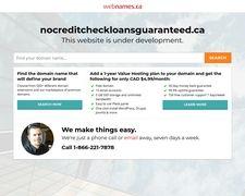 Nocreditcheckloansguaranteed.ca