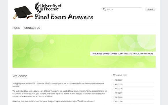 Phoenix Final Exam Answers
