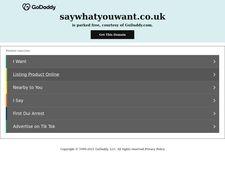 SayWhatYouWant.co.uk