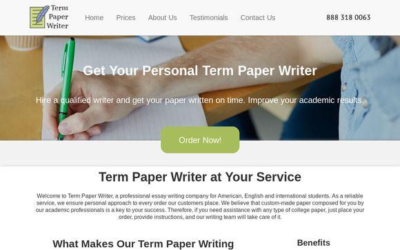 Term Paper Writer