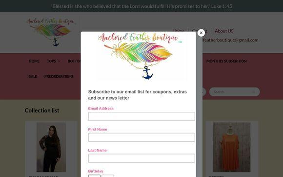 Theanchoredfeatherboutique.com