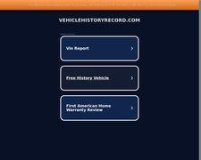 VehicleHistoryRecord